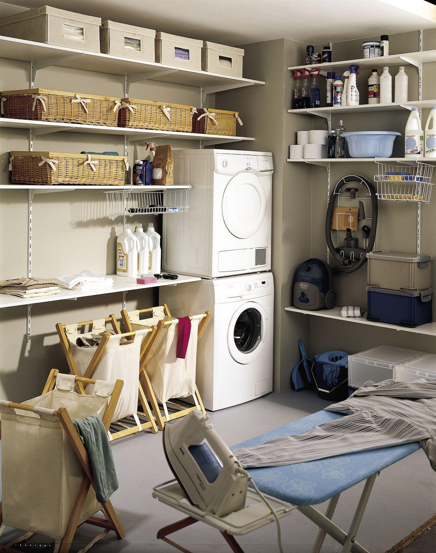 rangement buanderie id es pour la maison pinterest. Black Bedroom Furniture Sets. Home Design Ideas