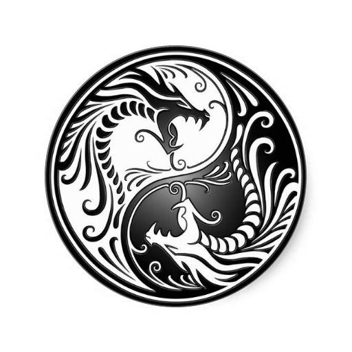 Yin Yang Dragons Gh Tatouage Ying Yang Tatouage Tatouage Dragon