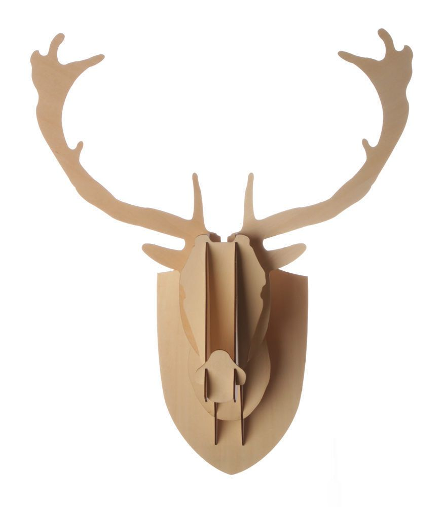 deer mounted itm animal antlers wall sculpture stag large figure decor gift head