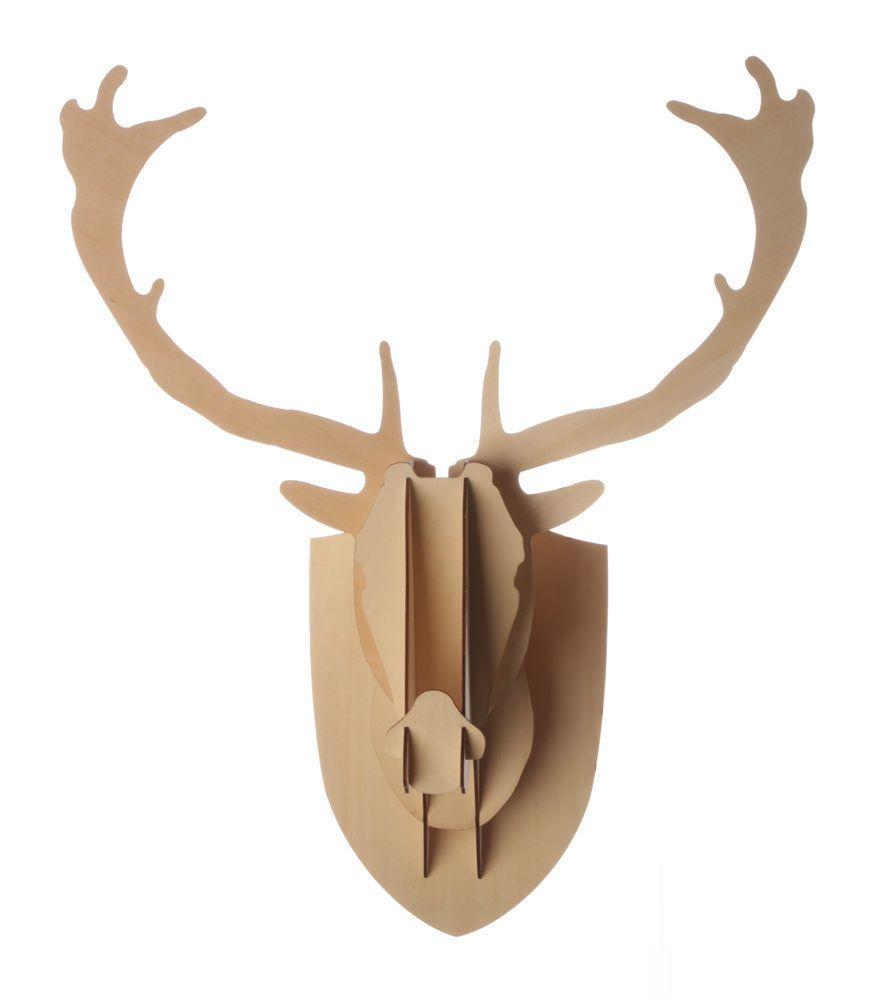 deer head plywood medium moose mantle wall decor fireplace