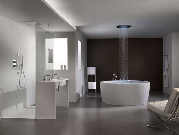 Grande salle de bain contemporaine et épurée | Archi Inspire ...