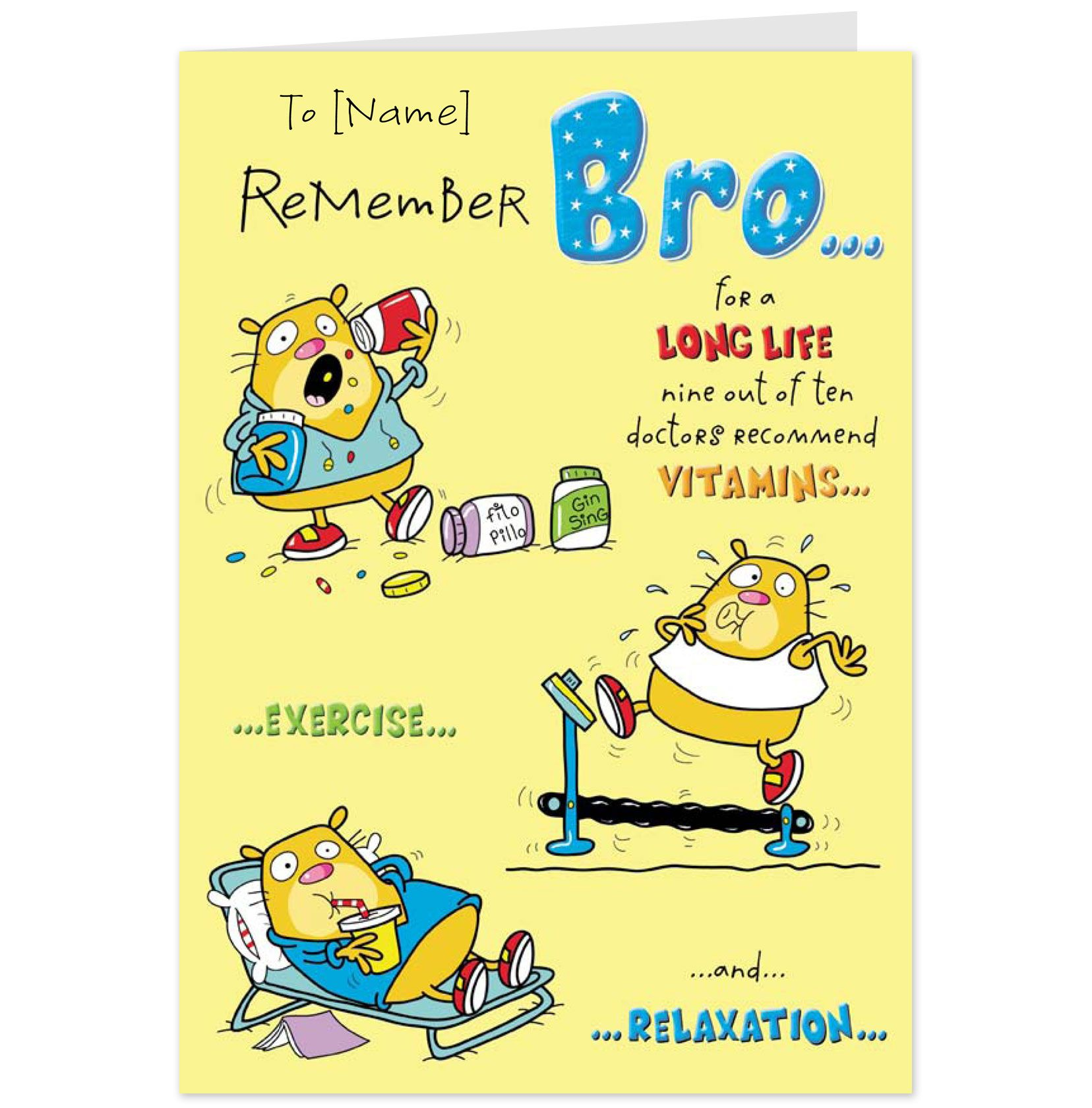 birthday greetings for brother Brother Birthday Card
