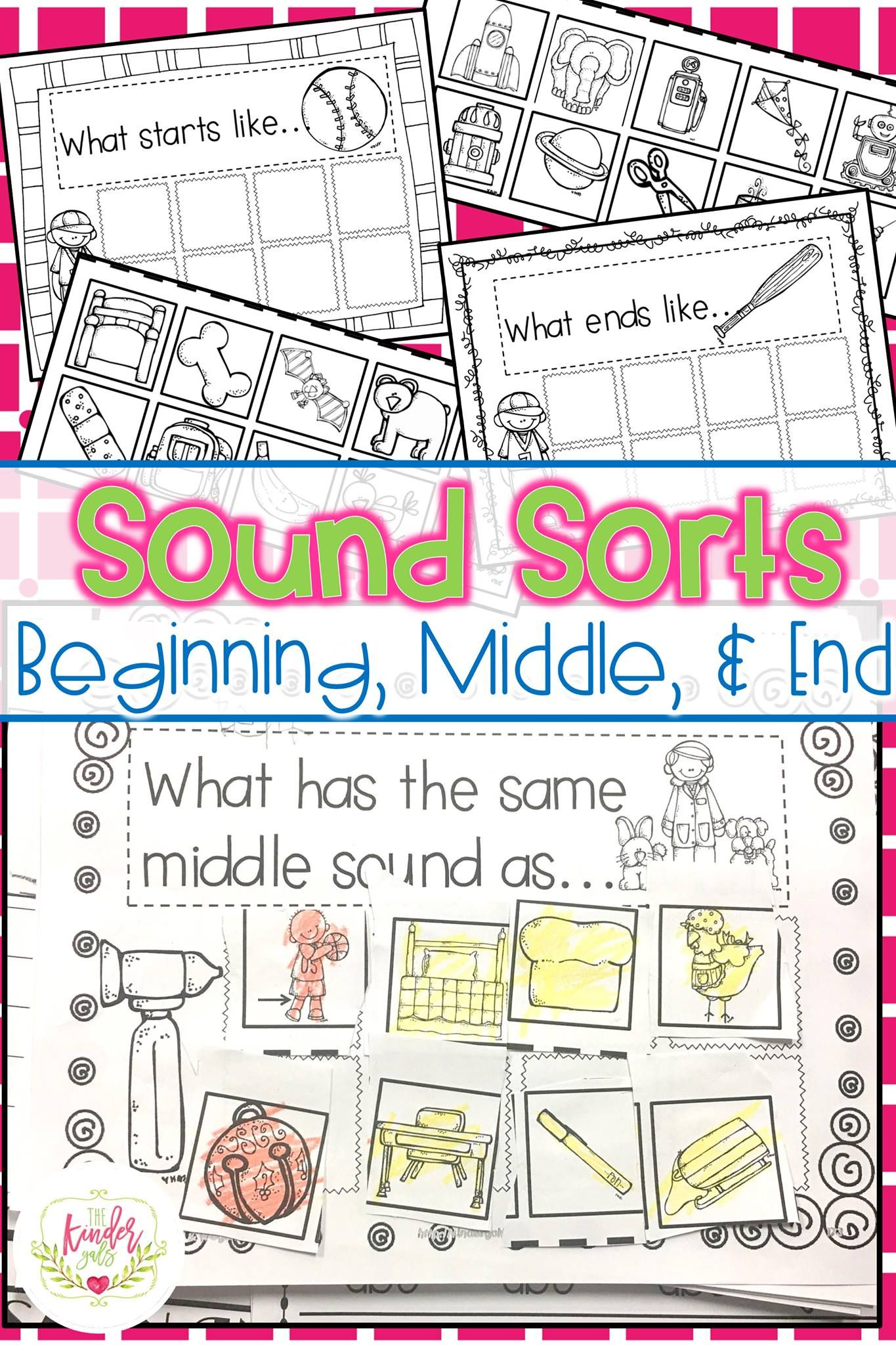 Phonemic Awareness Sound Sorts Sound Off By Kim Adsit