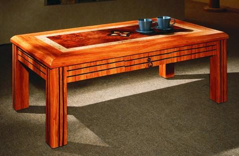 Attirant Pine Colour Coffee Table, Solid MDF Made From 7 Star Furniture