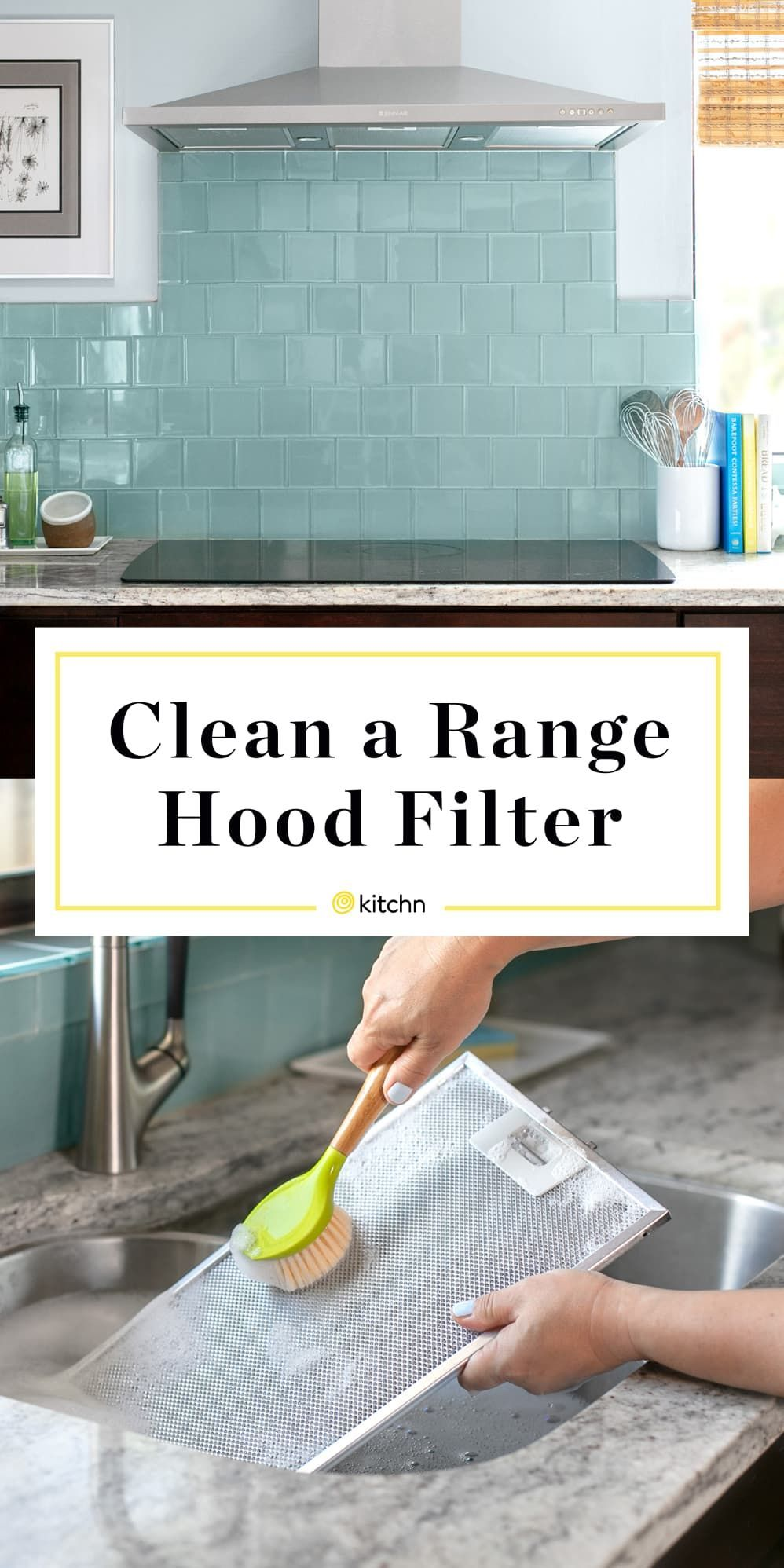How To Clean A Greasy Range Hood Filter Kitchn Cleaning Microwave Filters How To Clean A Greasy Range Hood Filter Haushalts Tipps Reinigen Haushaltstipps