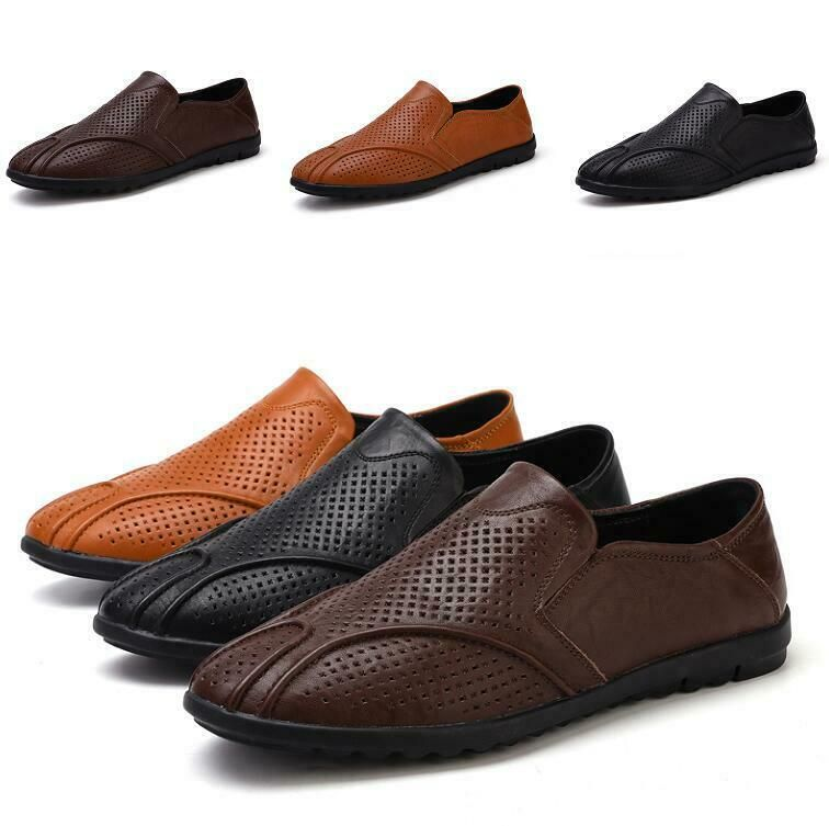 Chic Men Flat Driving Moccasin Loafer Leisure Comfy Pu Leather Slip-on Shoes