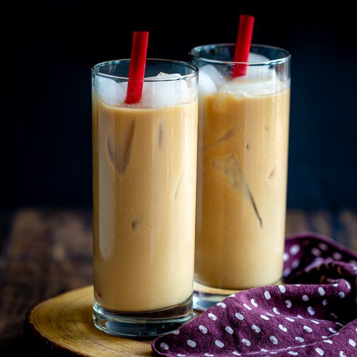 Easy Coconut Iced Chai Tea Latte