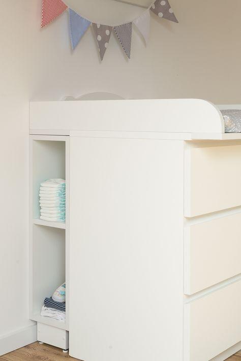 KraftKids Stauraumregal für Wickeltisch weiß passend für MALM ...