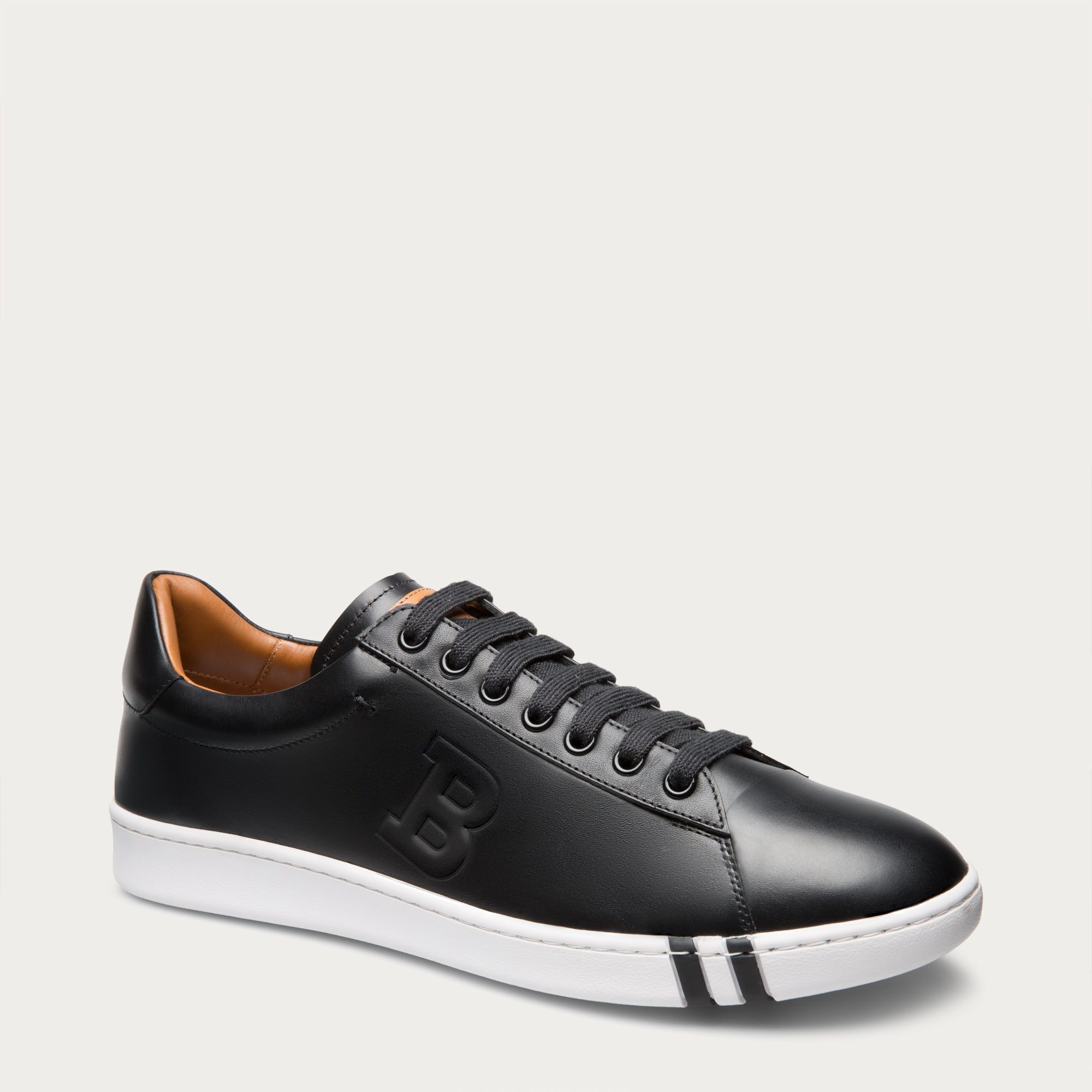 Herald Black, Mens leather trainer in black Bally