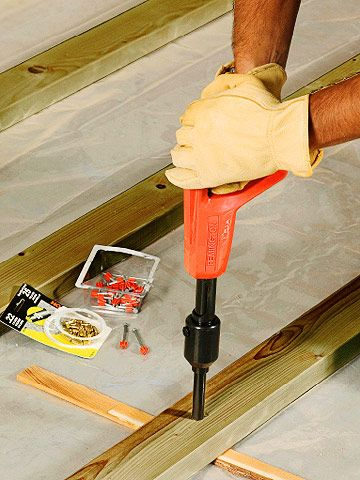 Install A Wooden Subfloor To Help Insulate Flooring From Cold Concrete Flooring Floor Insulation Diy Flooring