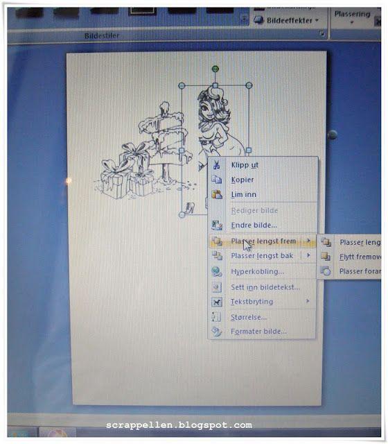 Hvordan bruke et digi motiv og maskere en digiscene i Word