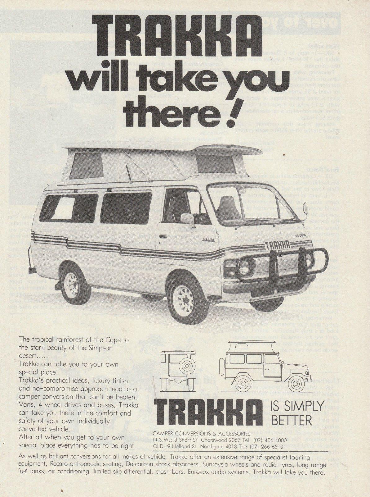 Vintage 1981 Trakka Toyota Hiace Motor CAR Advertisement Camper ...