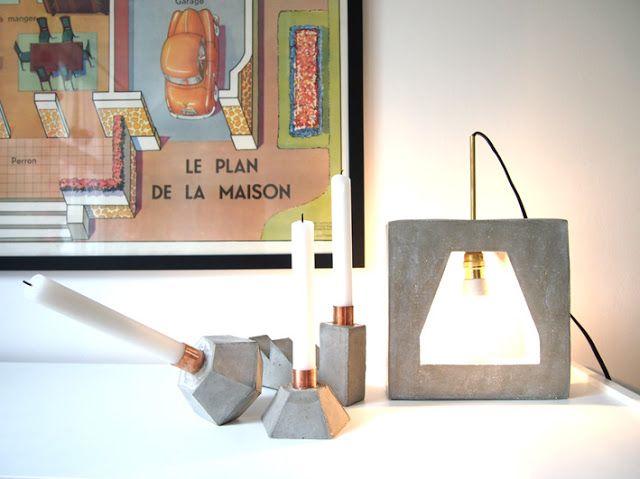 super lampe et super utilisation du béton