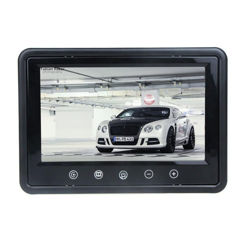9 Tft Color Lcd Car Rear View Monitor Hd Resolution Dvd Screen With