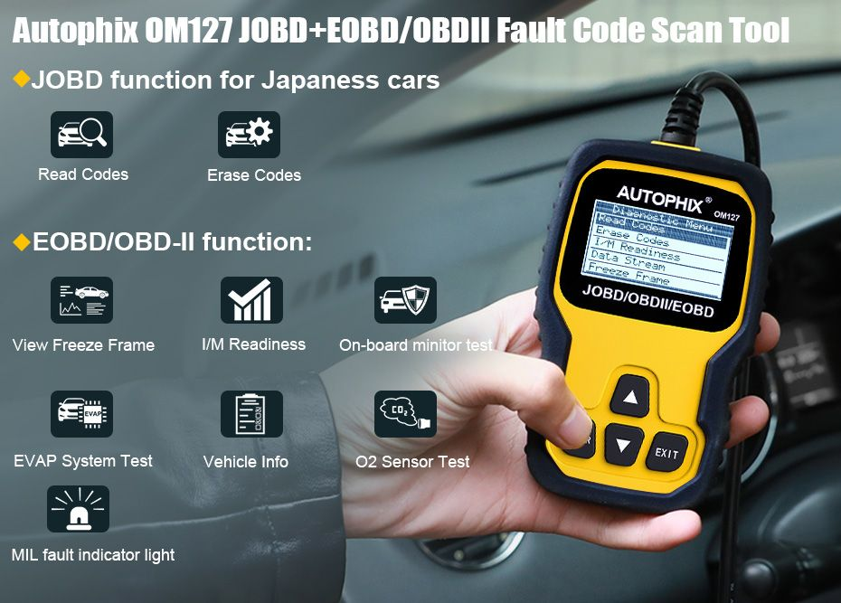 AUTOPHIX OBDMATE OM127 Best OBD2 Scanner For Japanese Cars