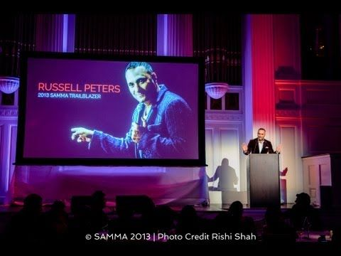 Russell Peters Recognized as 2013 SAMMA Trailblazer - http://lovestandup.com/russell-peters/russell-peters-recognized-as-2013-samma-trailblazer/