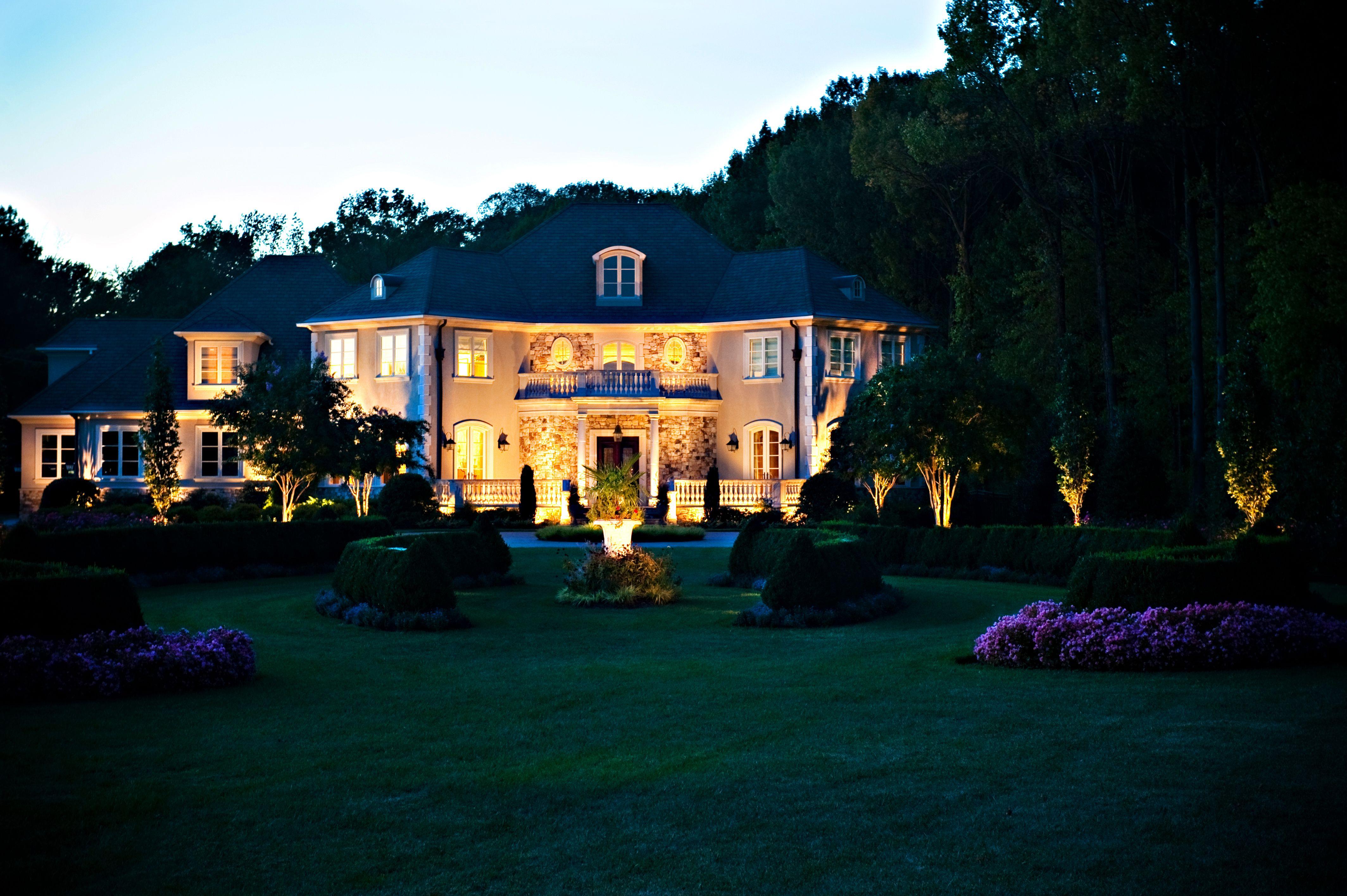 Stunning home in Moorestown NJ - Landscape Lighting done by Pinnacle Irrigation u0026 Nightlighting & Stunning home in Moorestown NJ - Landscape Lighting done by ... azcodes.com