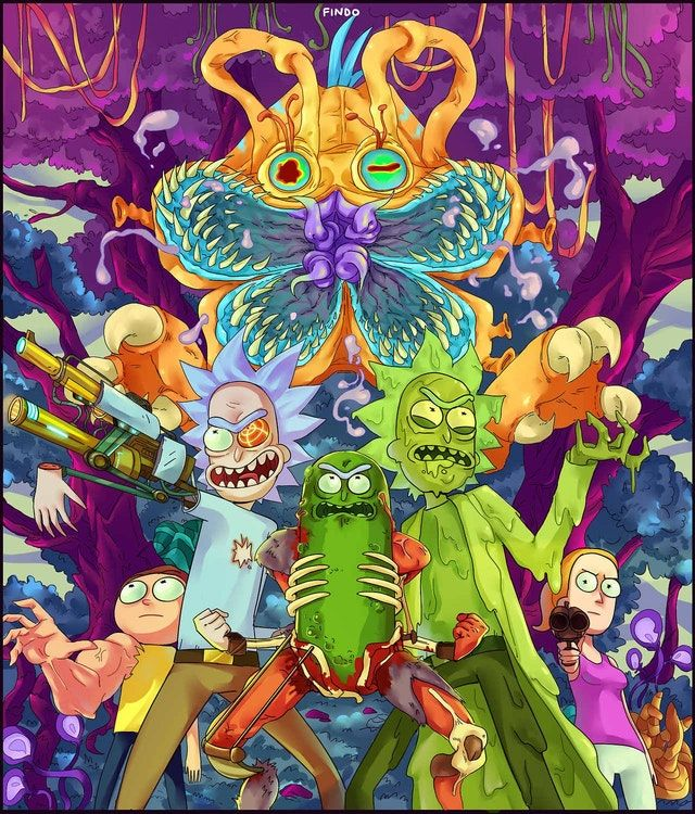 Rick and Morty artwork by Findo rickandmorty Wallpaper