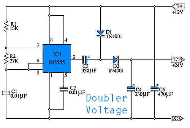 This take place simple doubler voltage circuit from voltage 12vdc this take place simple doubler voltage circuit from voltage 12vdc to be 24vdc by sciox Image collections