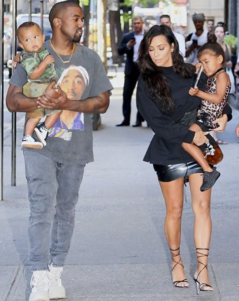Rapper Kanye West And His Wife Business Entrepreneur Kim Kardashian Stepped Out With Their Kids No Kim Kardashian And Kanye Kanye West And Kim Kim And Kanye