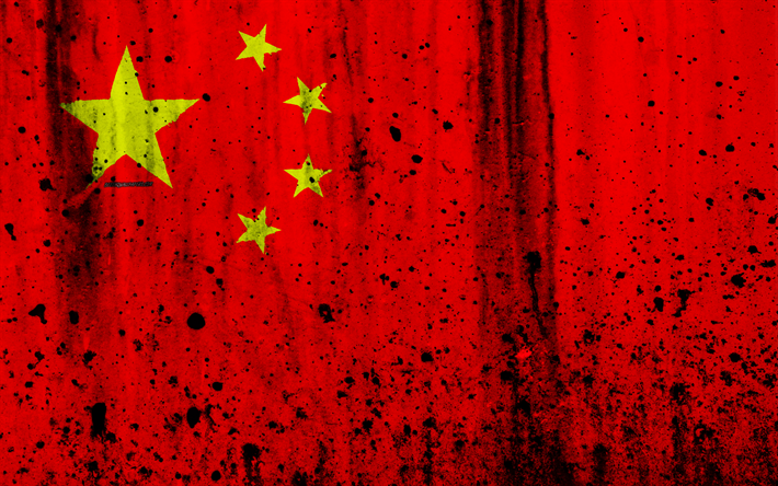 Download Wallpapers Chinese Flag 4k Grunge Flag Of China Asia