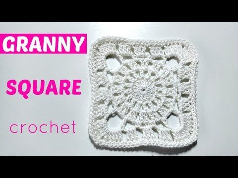 Como tejer square granny o cuadrados de la abuelita a crochet ...