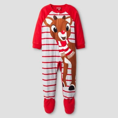 c54a15c5cf9b Toddler Rudolph the Red-Nosed Reindeer® Footed Pajama 1-Piece - Red ...