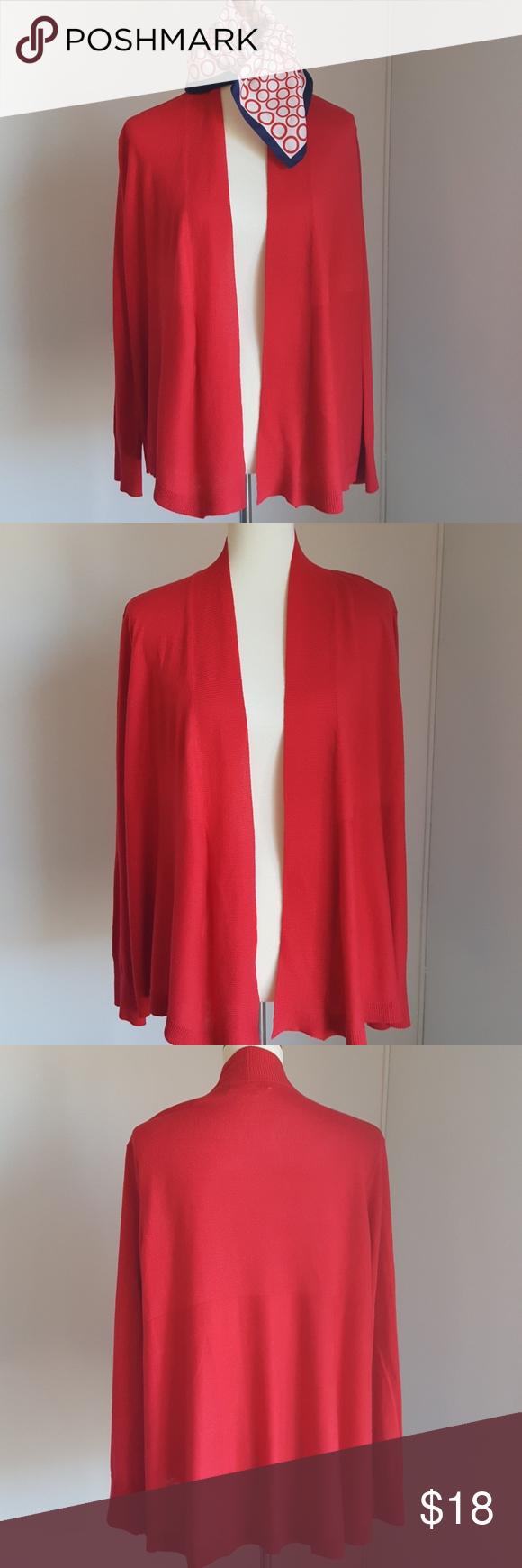 Lovely Red Shrug by Elizabeth Claiborne Extra large. Elizabeth Claiborne Sweaters Shrugs & Ponchos