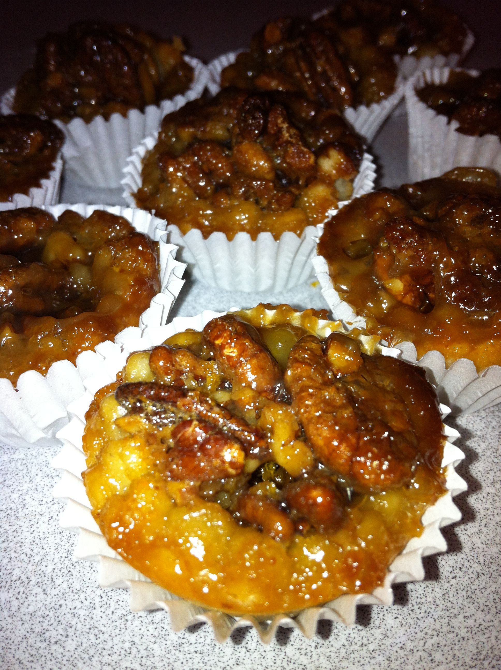 These mini pecan pies make lovely petit fours or dessert for your summer get together on the West Side of the Denver metro area!