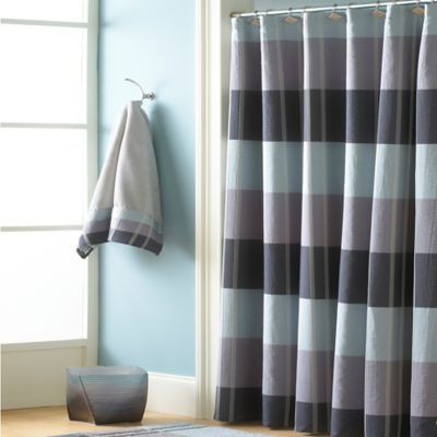 Buy CroscillR Fairfax 84 Inch X 72 Extra Long Shower Curtain In Slate From Bed Bath Beyond