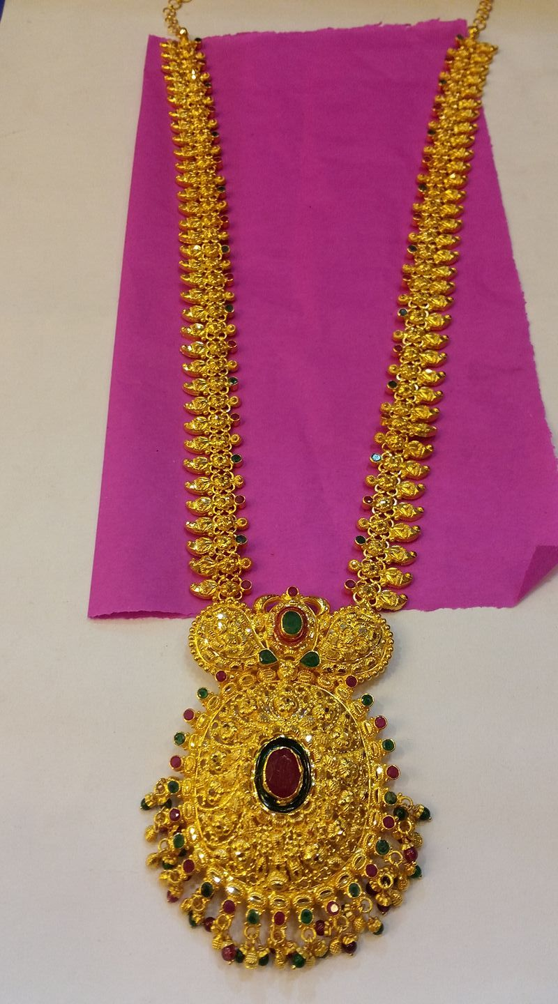 ed80c32a72eae 50 grams Mango haram .from Balaji jewellers. Beautiful nakshi work ...
