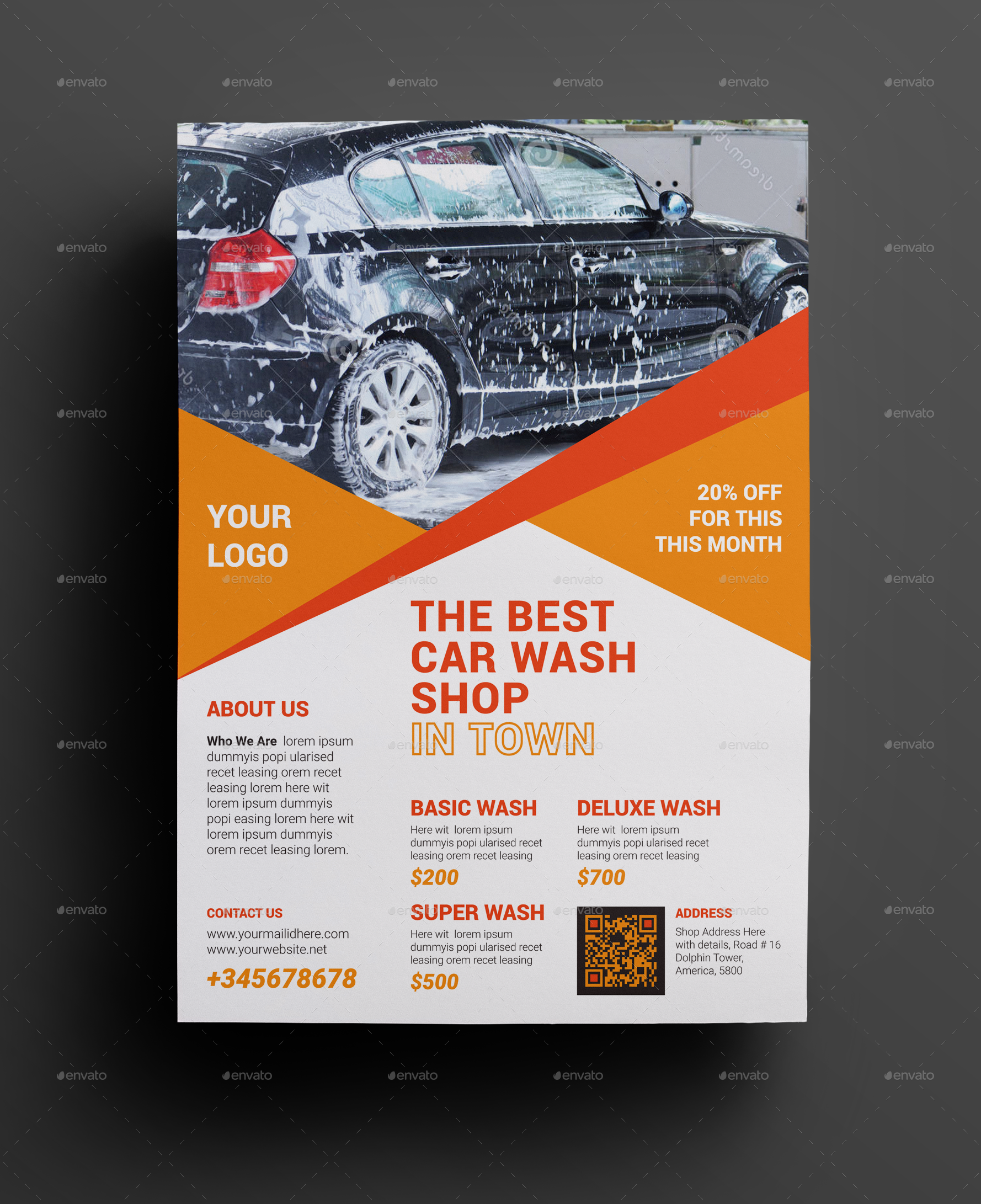 Car Wash Flyer Very Powerful & Promotional Flyer Clean