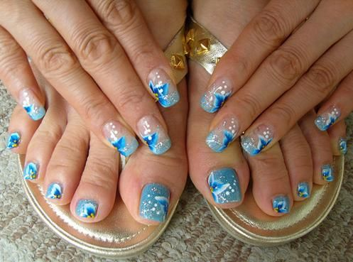 Easy toenail polish designs toe nail art designs art platter very blue nail art by nail art gallery 2012 prinsesfo Image collections