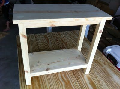 The Quaint Cottage Diy Simple End Table For Small Spaces How To