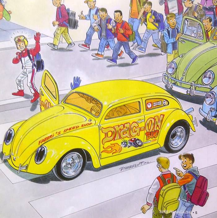 Vw Bug Drag Motor: Dessin De Pascal Meslet , Drag-on-Bug