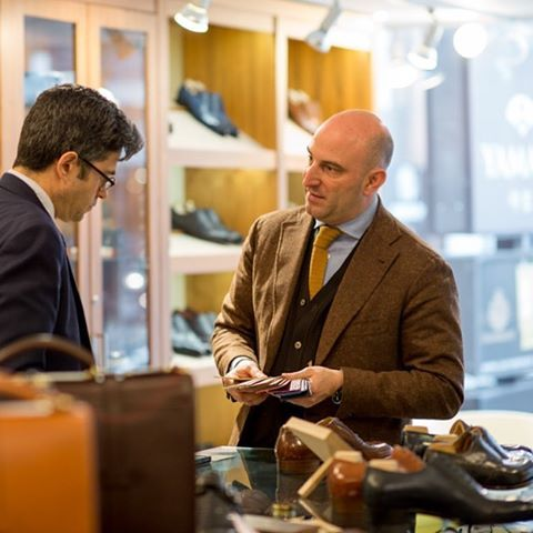 Talking shoes with Phillip Car of @saintcrispins