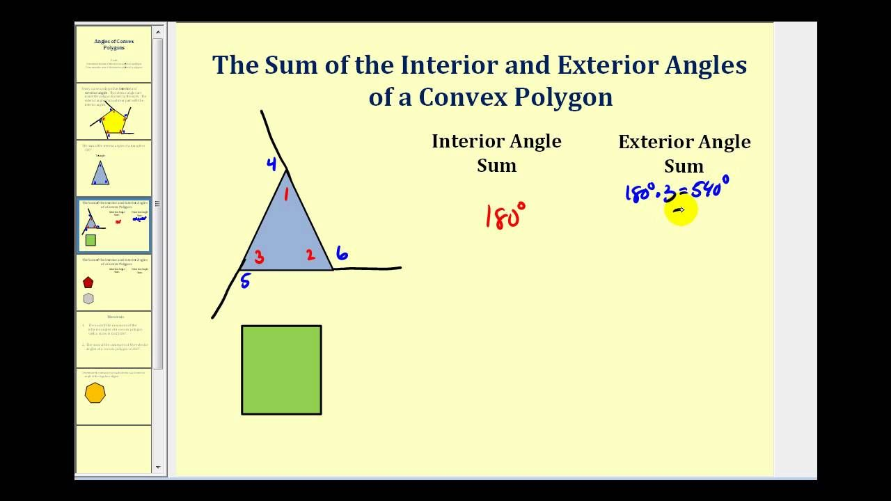 Interior and Exterior Angles of a Polygon Repinned by Chesapeake