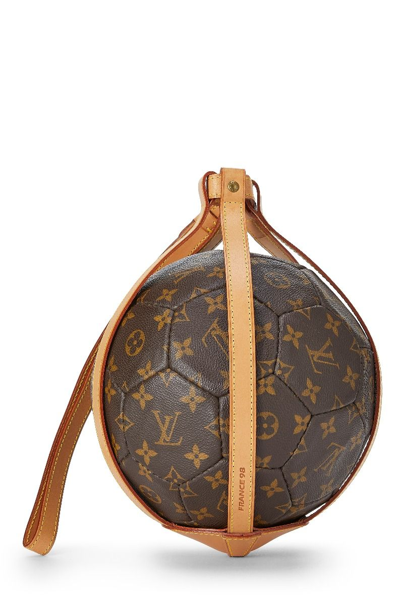Louis Vuitton Limited Edition Monogram Canvas World Cup Soccer Ball Handbag In Brown Gua Louis Vuitton Louis Vuitton Crossbody Vintage Louis Vuitton Handbags
