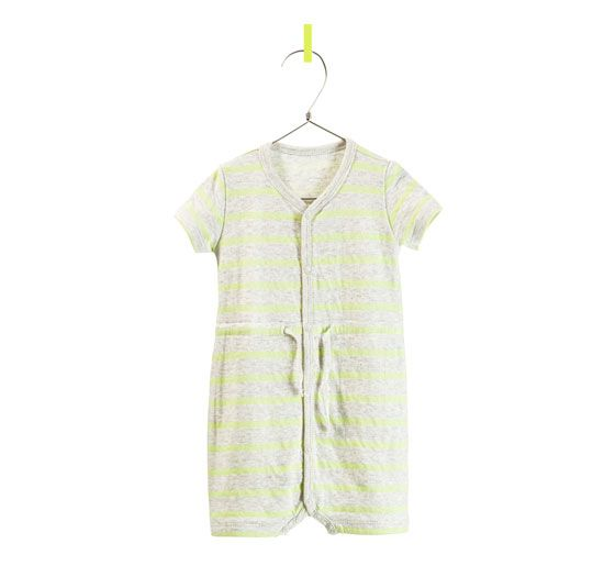 96562d8ca Image 1 of STRIPED VELOUR ROMPER SUIT from Zara