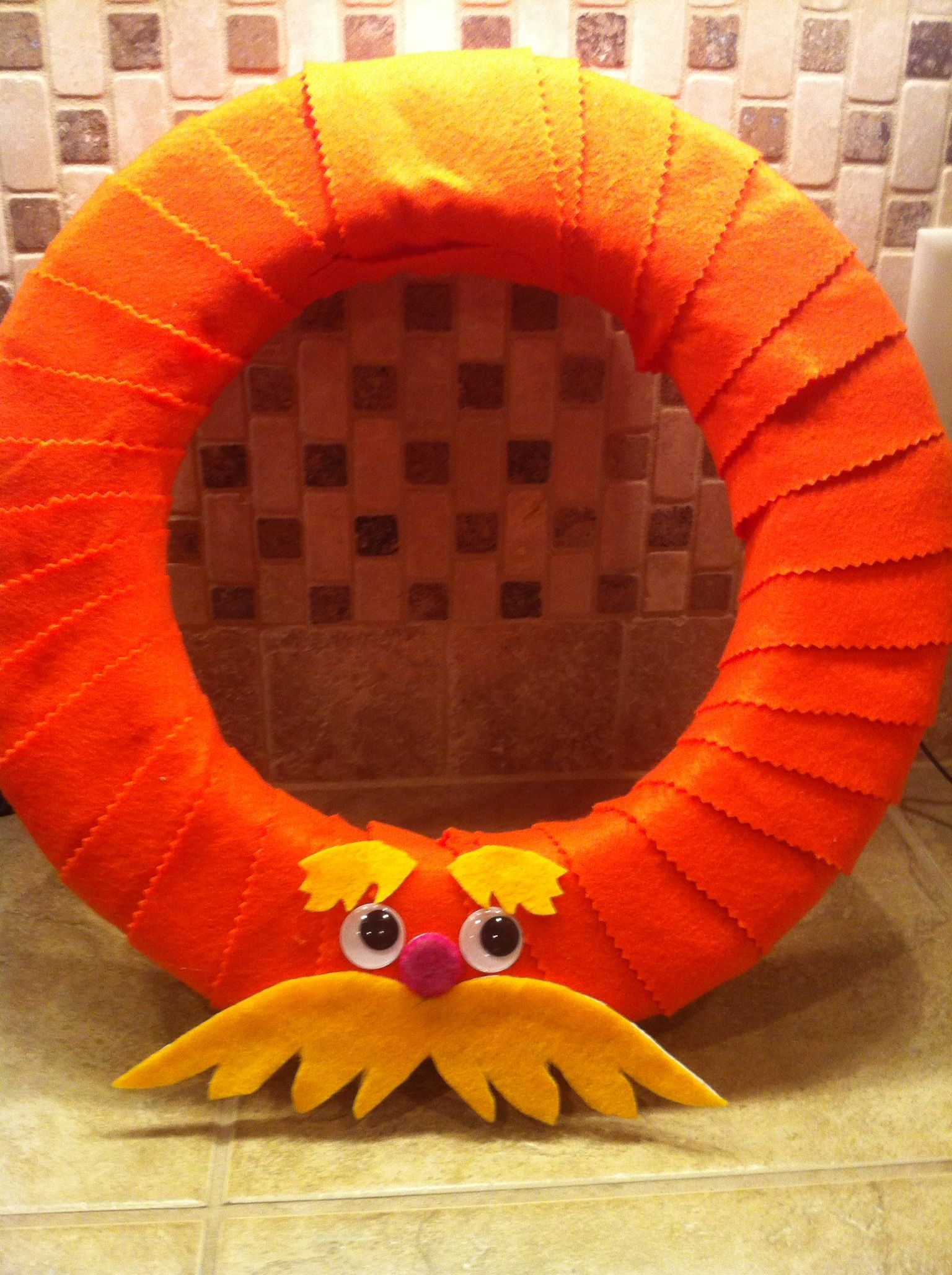 Felt Wreath The Lorax With Images