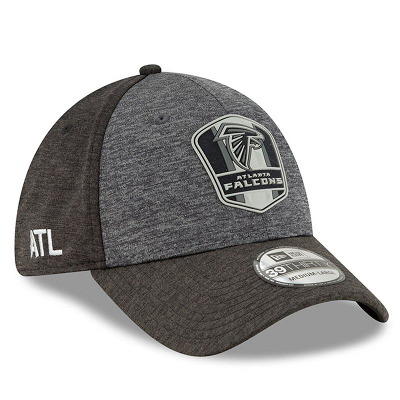 Atlanta Falcons New Era 2018 NFL Sideline Road Graphite 39THIRTY Flex Hat – Heather  Gray Heather Black 91cf8241c