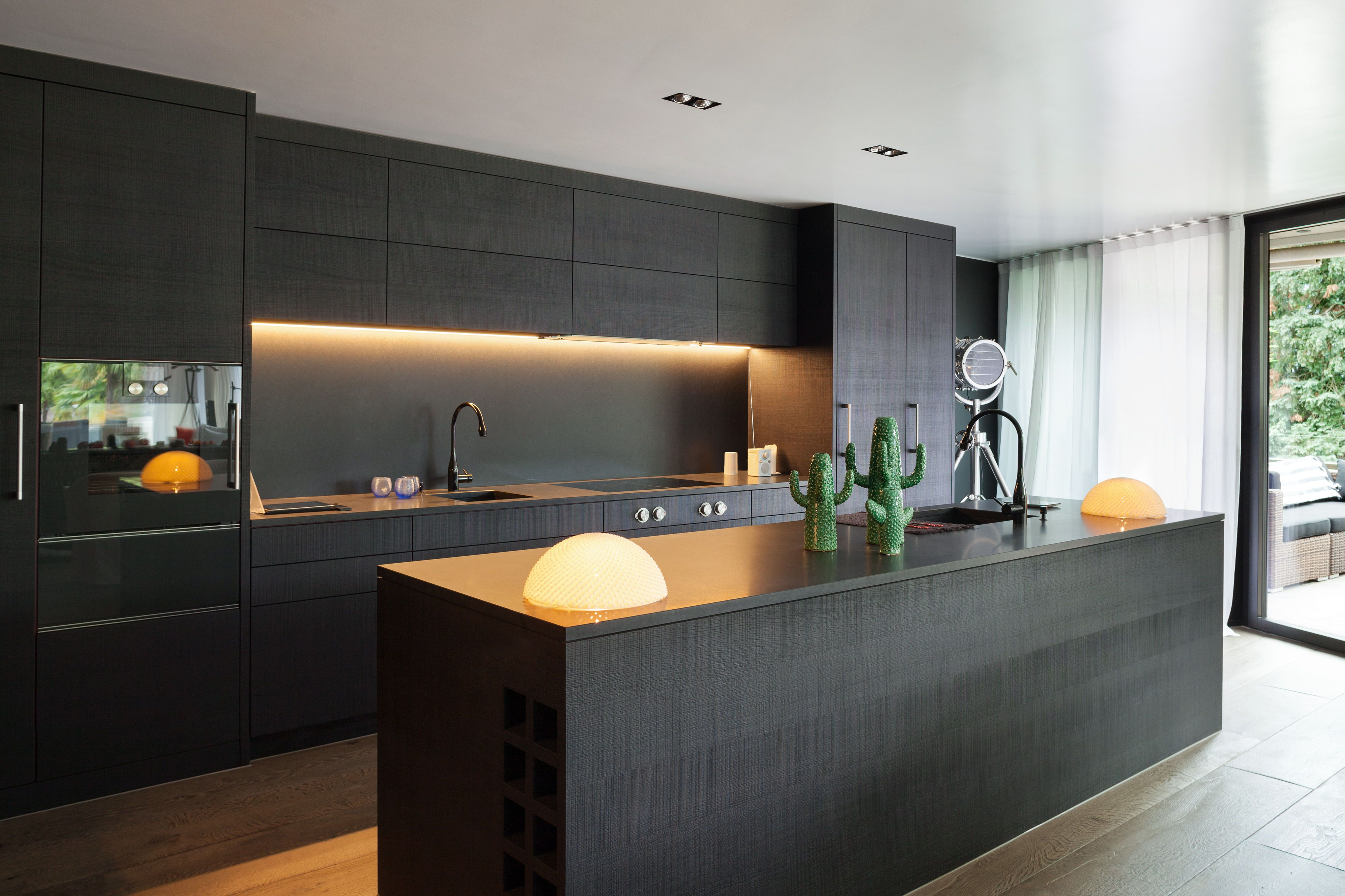 Modern Contemporary Kitchen That Makes A Statement Using Black