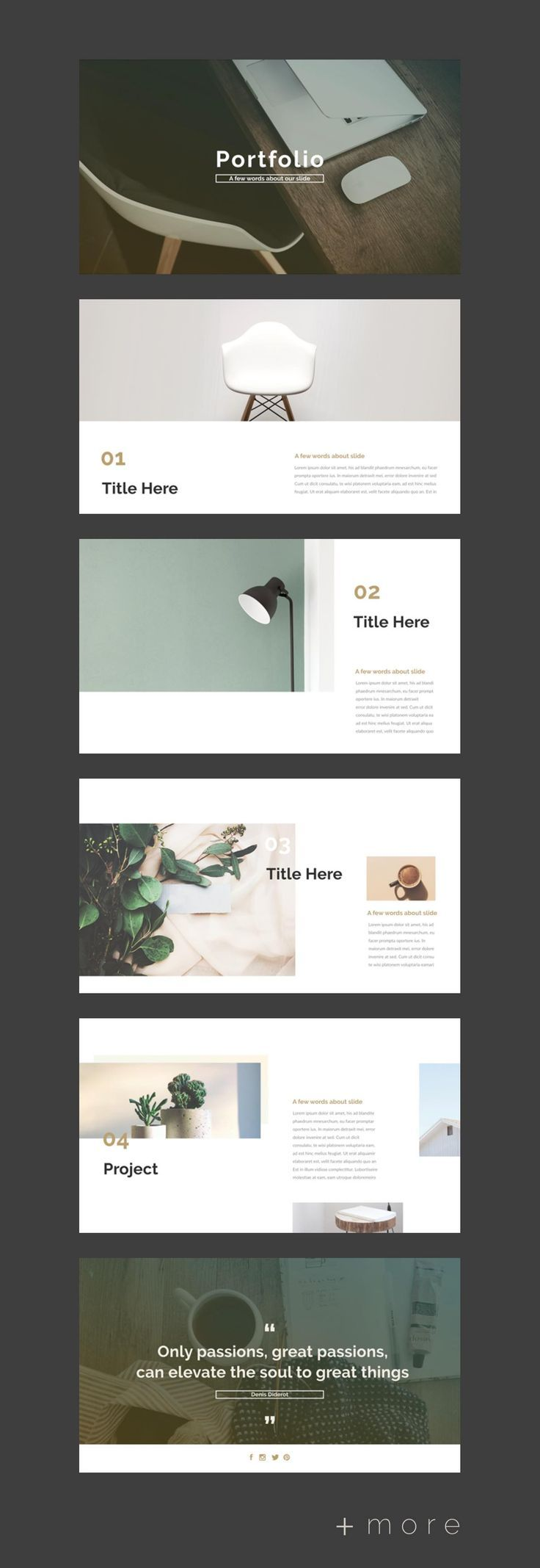 Simple Planner Presentation Design Template Business
