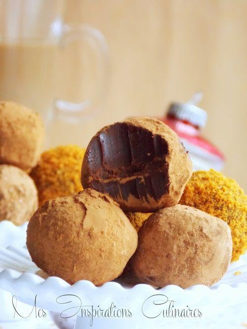 Les Truffes Au Chocolat Noir Cafe Recette Facile Recipe