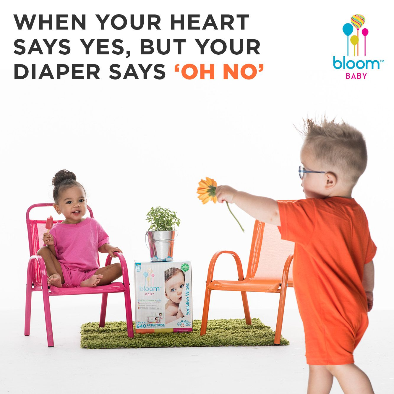 Don't kill the romance, stinky pants. Keep it fresh and clean with super-absorbent, natural, #PlantBased #bloomBaby wipes from #amazon. #NaturalBaby #BabyLove