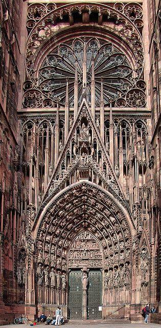 Cathedrale De Strasbourg France Gothische Architektur Kunst Und Architektur Und Architektur