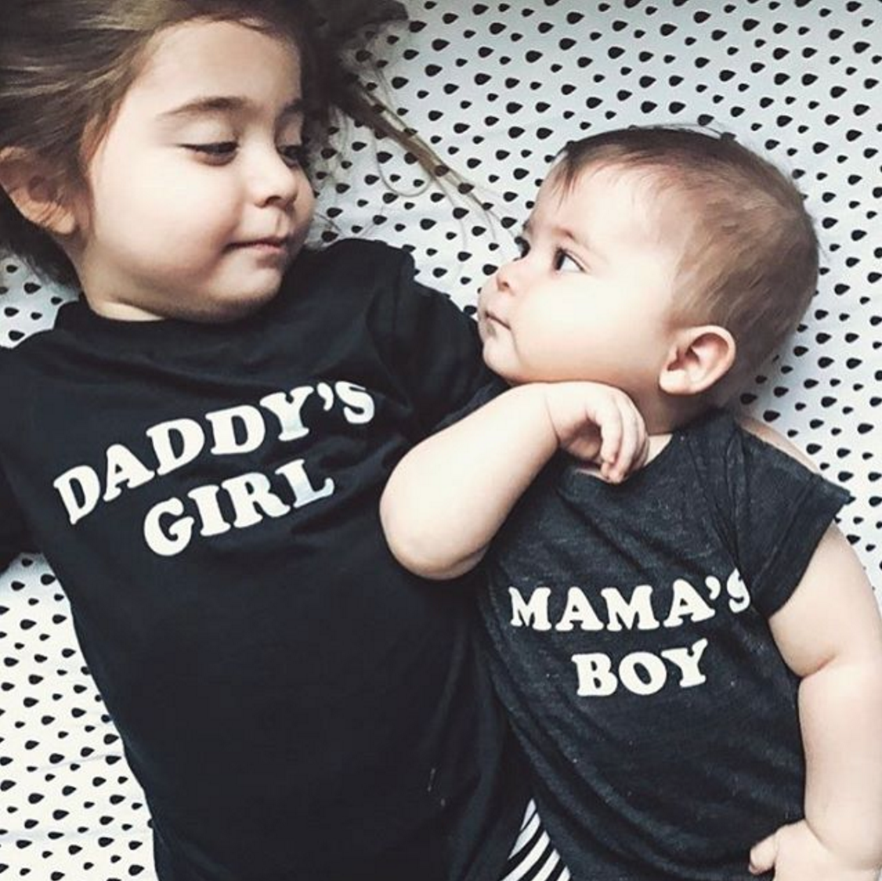 daddy 39 s girl tee mama 39 s boy onesie the bee the fox on etsy baby pinterest fotoideen. Black Bedroom Furniture Sets. Home Design Ideas