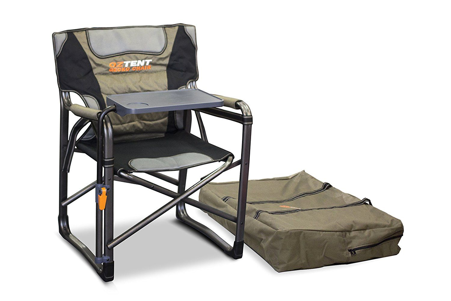 Oztent Gecko Camping Chair With Lumbar Support And Swivel