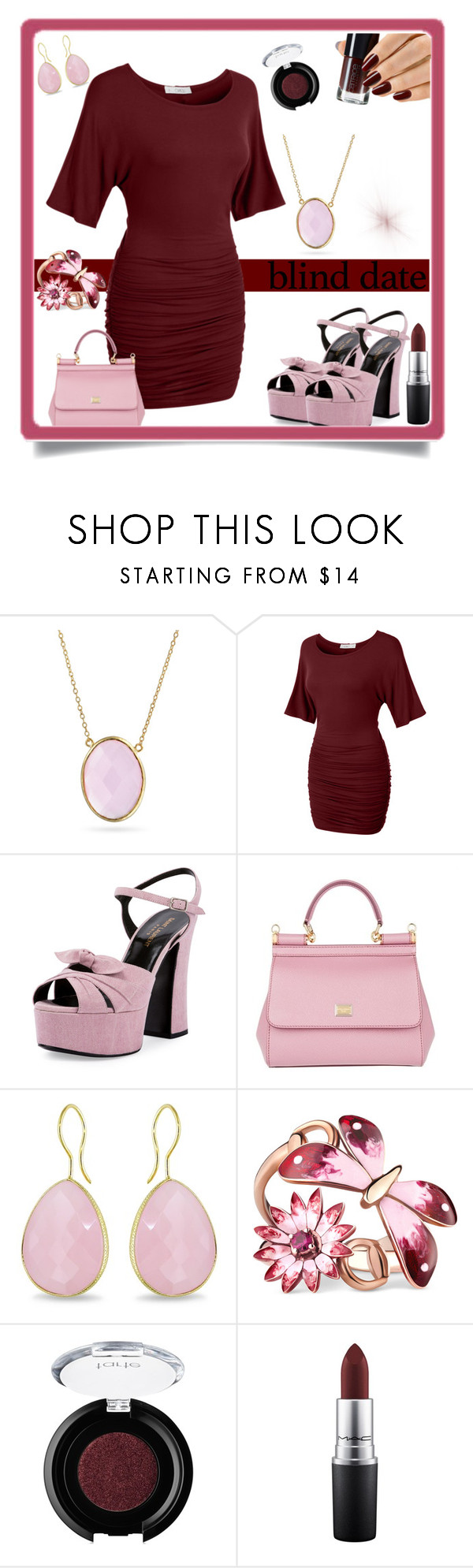 """""""blind date"""" by pam-doel ❤ liked on Polyvore featuring Bling Jewelry, LE3NO, Yves Saint Laurent, Dolce&Gabbana, Ice, Gucci, tarte and MAC Cosmetics"""