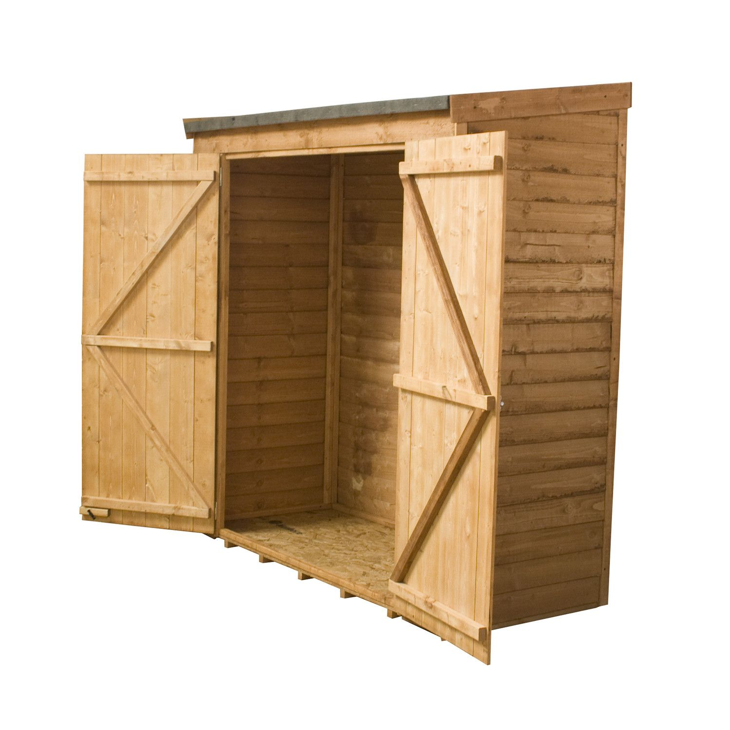 Garden Sheds 3ft Wide mercia garden products 6ft w x 2.6ft d wooden lean-to shed